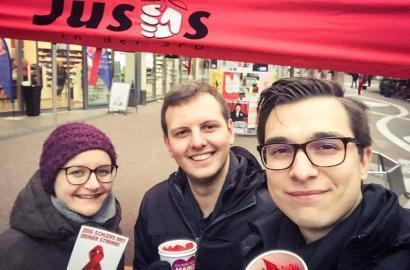 Jusos Mainz unterstützen die Aids-Hilfe Mainz