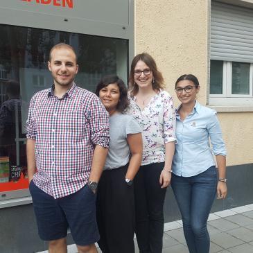 Die Stadtratskandidaten der AG Migration & Vielfalt: Ferhat Epik, Ayse At, Myriam Lauzi und Cansu Hassan