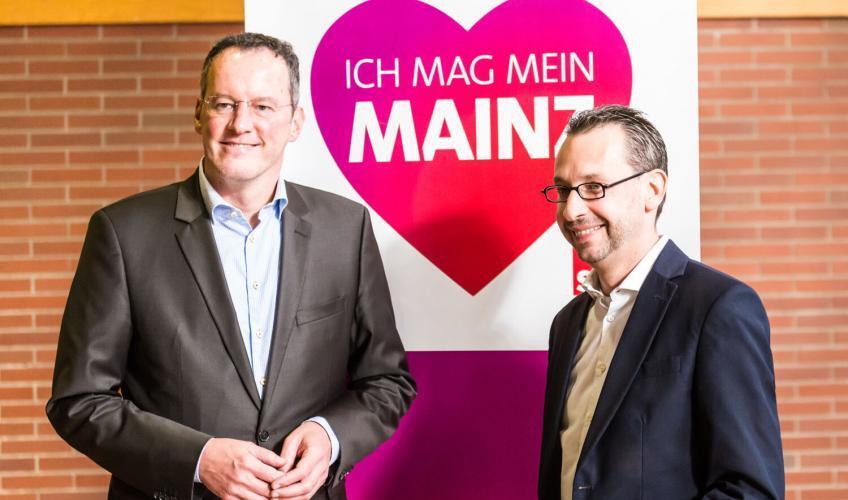 Michael Ebling (links) und Marc Bleicher