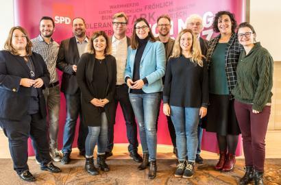 Der neugewählte Vorstand der Mainzer SPD
