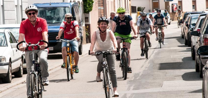 """Radrundfahrt """"Tour de Mayence"""" mit Doris Ahnen"""
