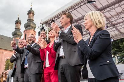 Kämpferisch in Mainz: Martin Schulz